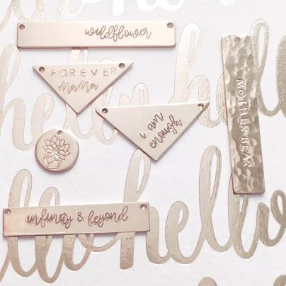 jewelry, stocking stuffers, custom, necklaces, bracelets, mint and birch
