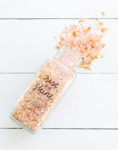 rise and shine bath salts, the little market, orange, bath soak, stocking stuffer, unique