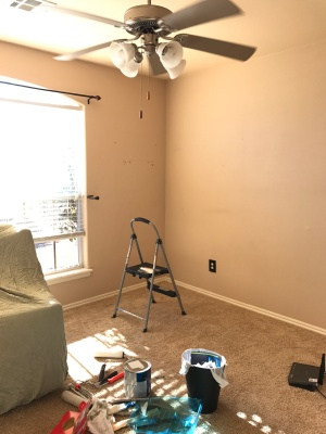 before photo, project nursery