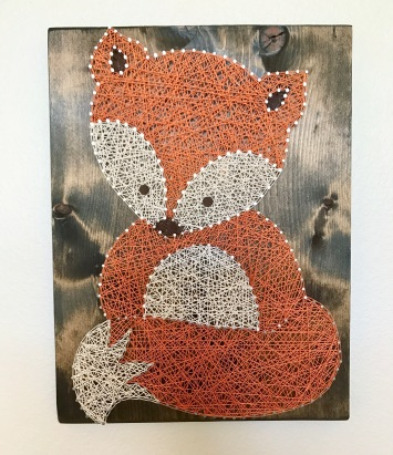 fox, string art, boy nursery, project nursery