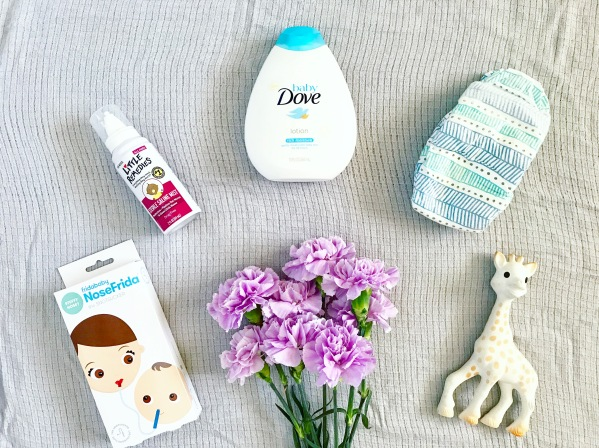 sophie the giraffe, dove, baby dove, lotion, honest company diapers, little remedies, nose frida, baby faves